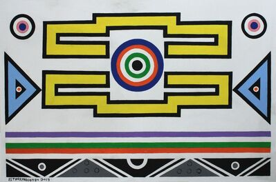 Esther Mahlangu, 'Ndebele Abstract - C0001348', 2019