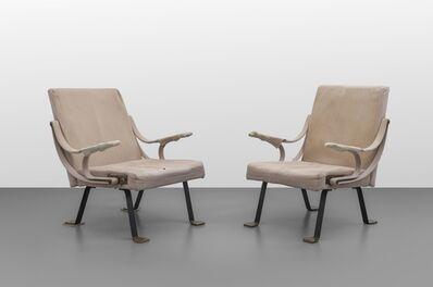 Ignazio Gardella, 'A pair of 'Digamma' armchairs', 1957