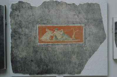 'Fresco Fragment with Woman and Swan',  1st century