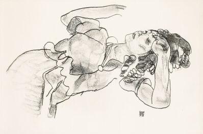 Egon Schiele, 'reclining girl', 1920