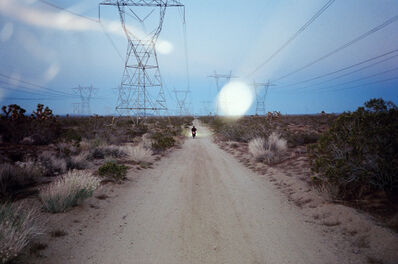 AMI SIOUX, 'Cameron on his motorcycle, High Desert.', 2014