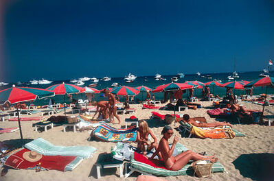 Slim Aarons, 'Beach at St. Tropez', 1977