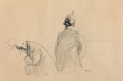 Jean-Louis Forain, 'Prussian Soldier and Civilians', ca. 1919
