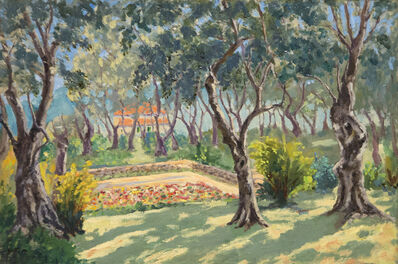 Sir Winston Churchill, 'The Sunken Garden at La Dragonnière, Cap Martin', ca. 1930's