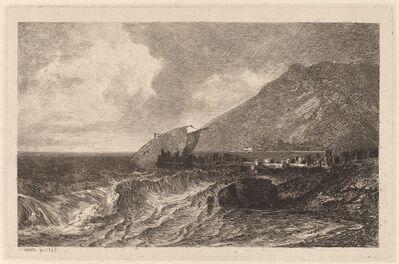 Alexandre Calame, 'Shipwreck on a Shore', 1845