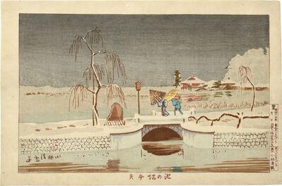 Kobayashi Kiyochika 小林清親, 'Benton Shrine at Ikenohata', ca. 1880