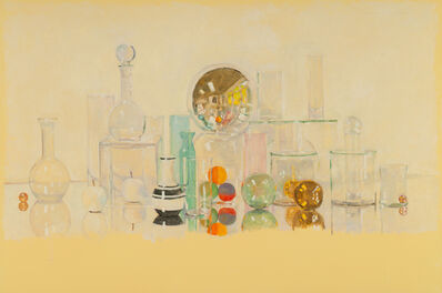 David Summers, 'Happy Still Life with Golden Spheres (the Artist is not In)', 2017