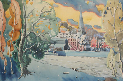 Marc-Aurèle Fortin, 'Montreal, View from St-Helen's island', ca. 1922