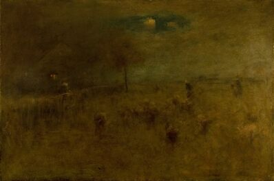 George Inness, 'Moonrise, Montclair', 1893
