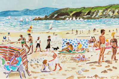 Red Grooms, 'French Beach Scene', 1980