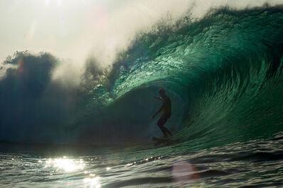 Guillermo Cervera, 'Manuel Lezcano surfing in El Quemao, Lanzarote, Canary Islands.'