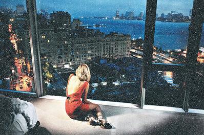 David Drebin, 'Girl in the orange dress - Diamond Dust series', 2021