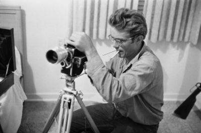 Richard C. Miller, 'James Dean with a Camera During the Shooting of GIANT', 1956