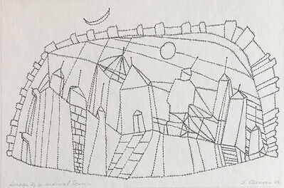 Samia Osseiran Junblat, 'Image of a medieval town (1)', 1973