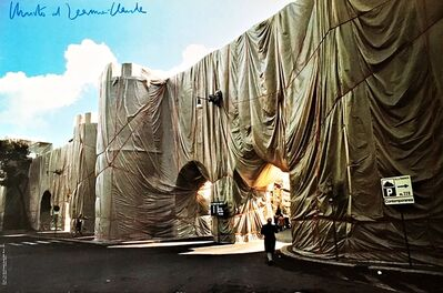 Christo and Jeanne-Claude, 'The Wall-Wrapped Roman Wall (Hand Signed)', ca. 1974