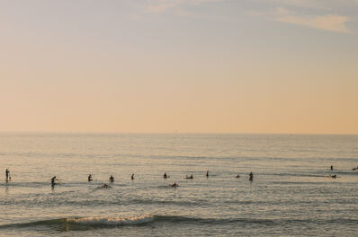 Ludwig Favre, 'Surfing Sunrise', 2021