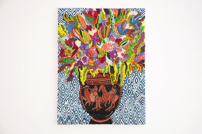 Caroline Larsen, 'Column-krater with Flowers', 2018