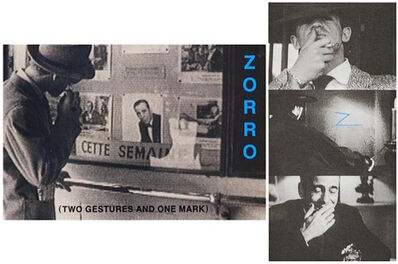 John Baldessari, 'Zorro (Two Gestures and One Mark)', 1998