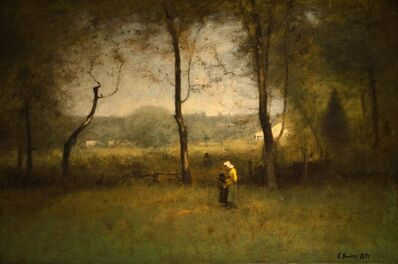 George Inness, 'Wood Gatherers: An Autumn Afternoon', 1891