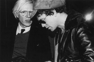 Rose Hartman, 'Andy Warhol and Lou Reed, Studio 54, 1977', 2021