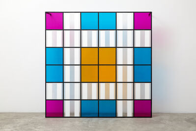 Daniel Buren, 'Colors, light, projection, shadows, transparency - n° 7: situated works', 2015