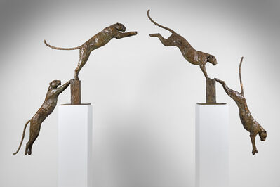 Mark Coreth, '17. Leaping Leopards (set of 7)', 2019