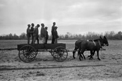 Constantine Manos, 'Untitled, Sharecroppers, South Carolina (7 men standing in a wagon)', 1965