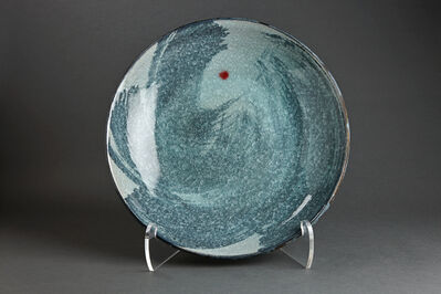 Young Jae Lee, 'Plate, chalk and feldspar glaze with engobe brushwork', 2013