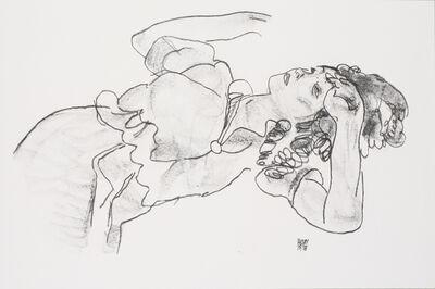Egon Schiele, 'Reclining Girl [Handzeichnungen]', 1920