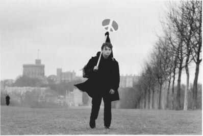 John 'Hoppy' Hopkins, 'Lone Marcher in Windsor Great after the CND March from Aldermaston to Trafalgar Square, London', 1963