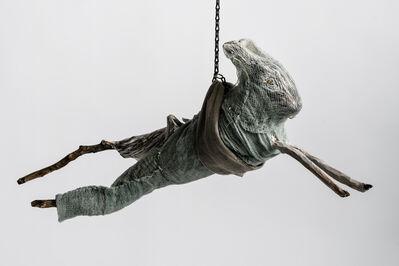Elizabeth Jordan, 'Sculpture of hare suspended from chain: 'Children 9'', 2020