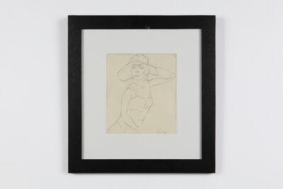 """Rudolf Ausleger, '""""Dame mit Hut"""" ( Lady with Hat )', ca. 1924"""