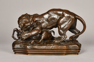 Antoine-Louis Barye, 'Tiger and Gazelle', 19th century