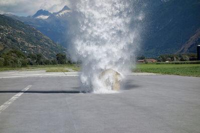 Roman Signer, 'Unter dem Wasserfall II', 2013