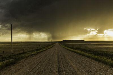 Eric Meola, 'Rainstorm Over Gravel Road, Wyoming', 2013