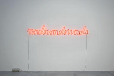 Marie José Burki, 'Wordswordswords', 2014