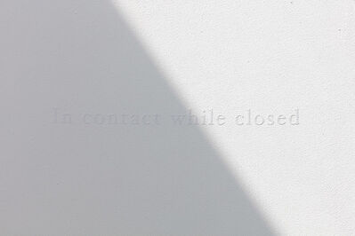 Morgane Tschiember, 'In contact while closed', 2018