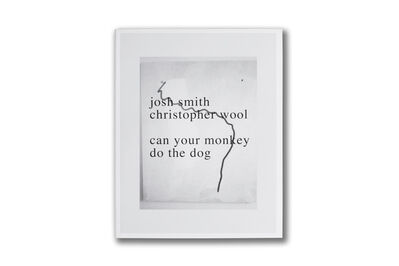 Christopher Wool & Josh Smith, 'Can your monkey do the dog', 2007