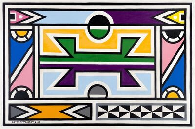 Esther Mahlangu, 'Ndebele Abstract - C000961', 2019