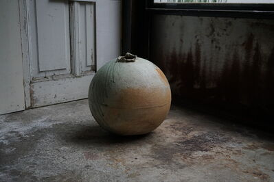 Shiro Tsujimura, '自然釉丸壷大 Round large jar natural ash glazed'