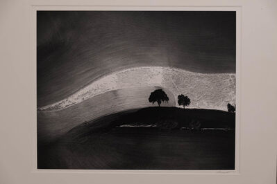 William Garnett, 'Two Trees on Hill with Shadows, Paso Robles, California', 1974