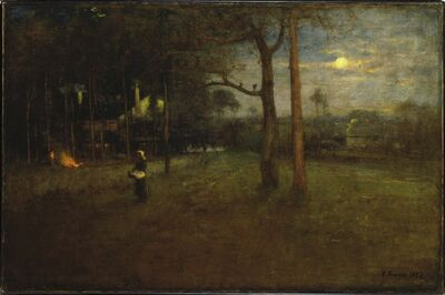 George Inness, 'Moonlight, Tarpon Springs', 1892
