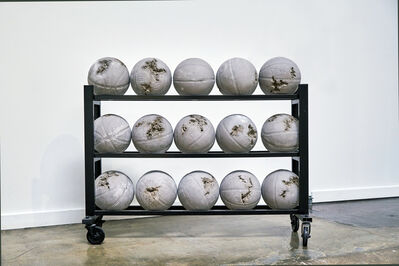 Daniel Arsham, 'Glacial Rock Eroded Basketballs', 2014