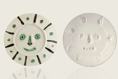 "Pablo Picasso, 'Original Pablo Picasso Dual Sided Ceramic AR 349, 350 ""Face with Spots,"" ""Mat Face""', 1956"