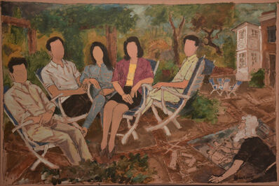 M. F. Husain, 'Family', 1989