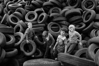 Mimi Plumb, 'Boys and Tires, Sears Point', 1976