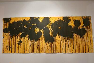 Ushio Shinohara 篠原 有司男, 'Black on Sunflower Yellow', 2016