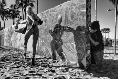 Dotan Saguy, 'Peeking from Behind the Graffiti Wall', 2017