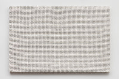 Analia Saban, 'Woven Grid as Warp and Weft, 79 x 79 (White)', 2019