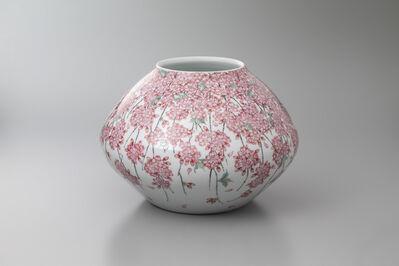 Obata Yuji, 'Shidare (Weeping) Cherry Blossoms', 2018